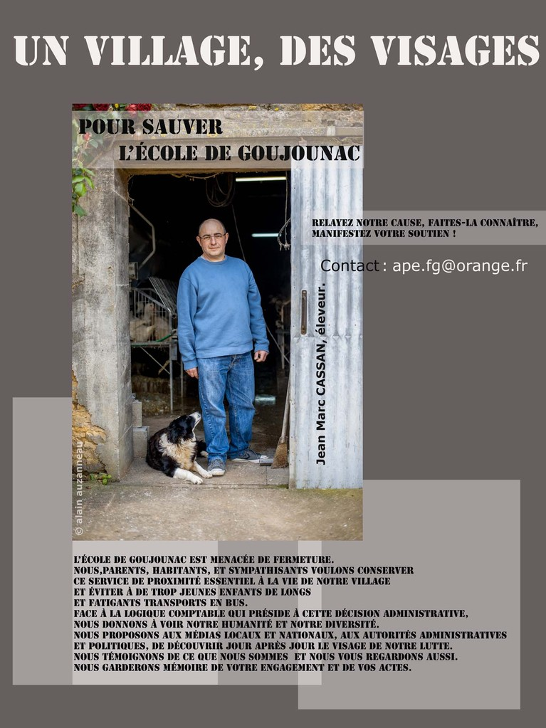 Photo-pétition des habitants de Goujounac