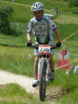 Sören gibt Druck aufs Pedal (Wittnau CH)
