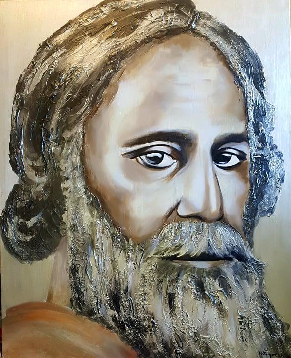 R. Tagore...100x80 cm