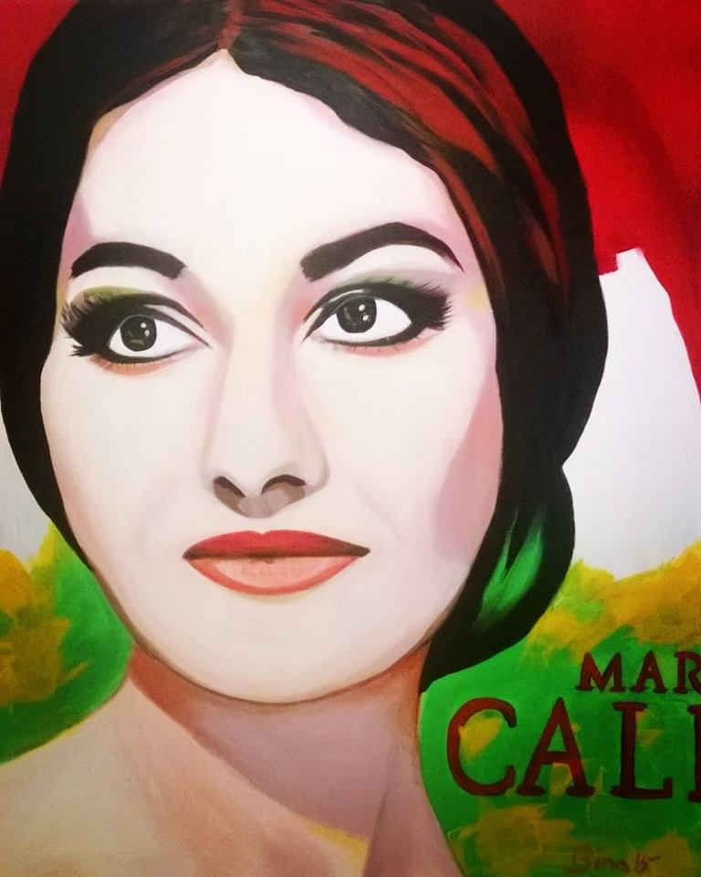 Maria Callas...100x80 cm