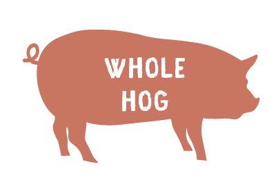 Whole Hog - $3 50/lb Hanging Weight Plus Cut and Wrap - $200 deposit