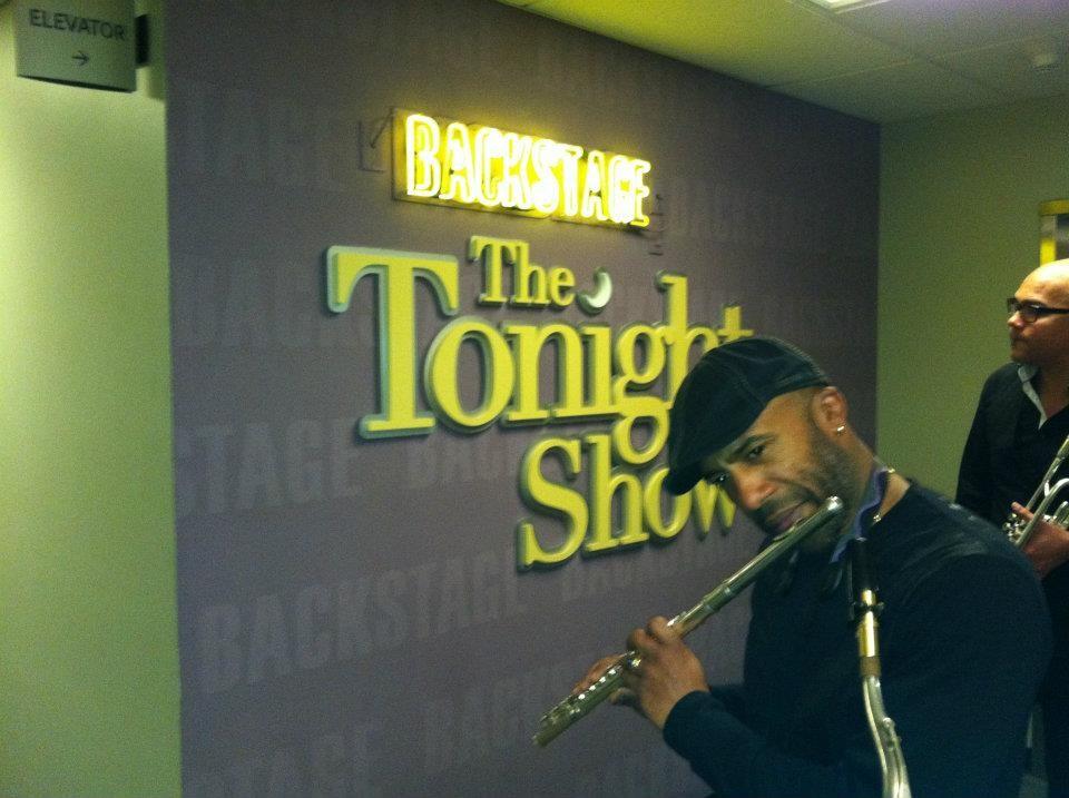 Backstage Jay Leno´s show
