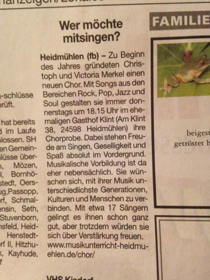 Chor Umschau Pressetext