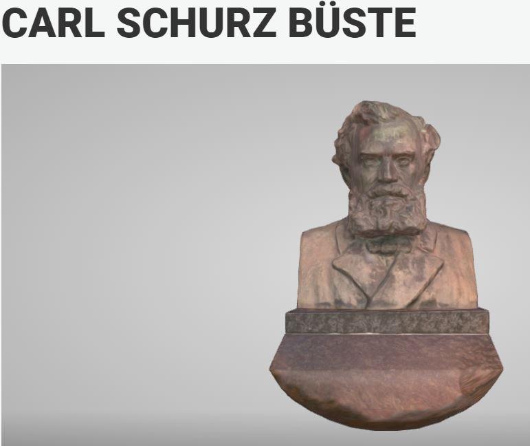 Carl Schurz Sculpture, 3D View, please press the picture
