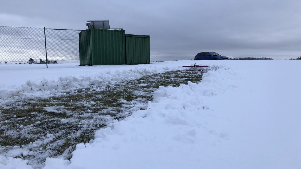 20cm Schnee und 3 Grad Minus
