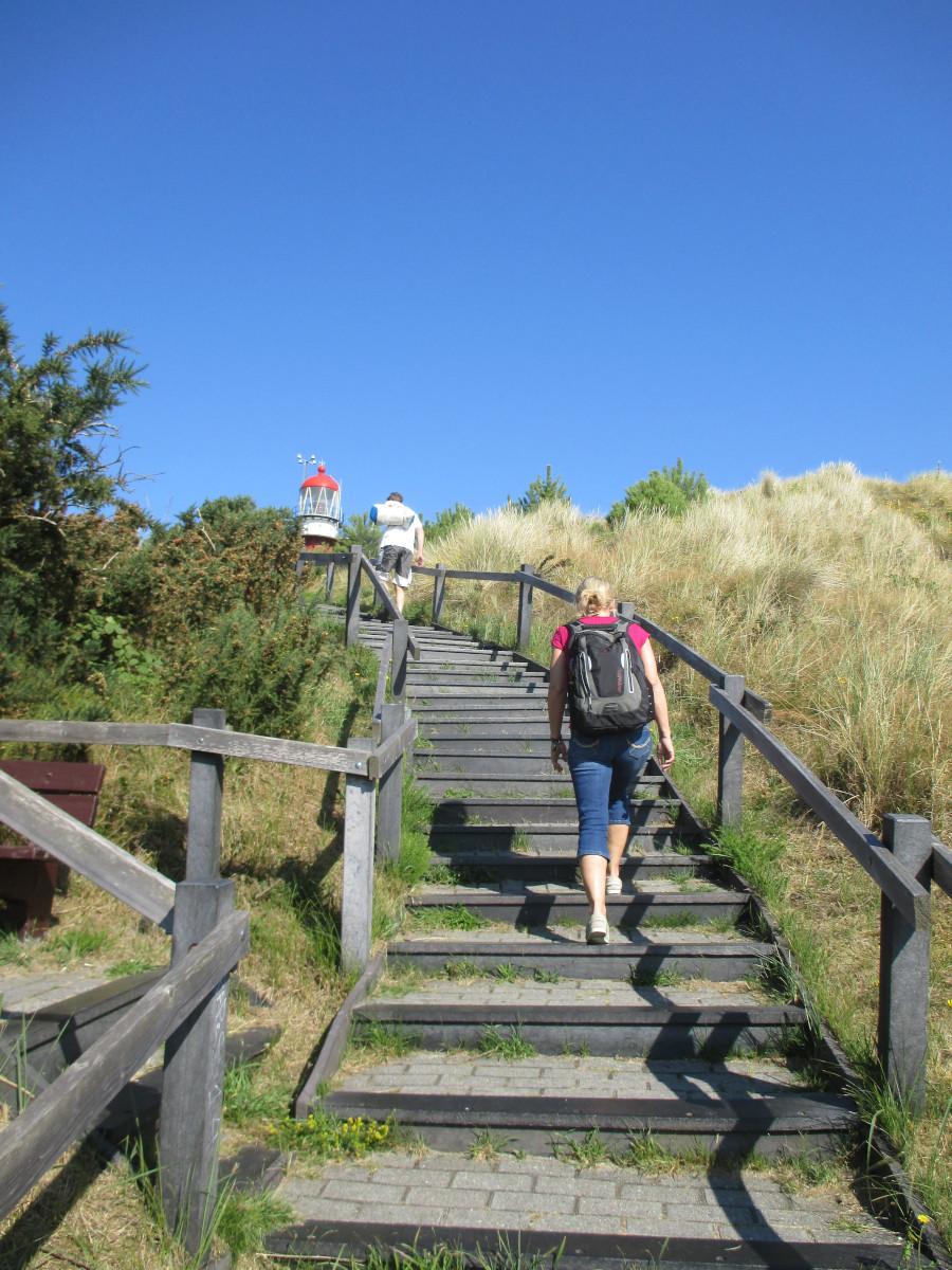 Oha, steile Treppen