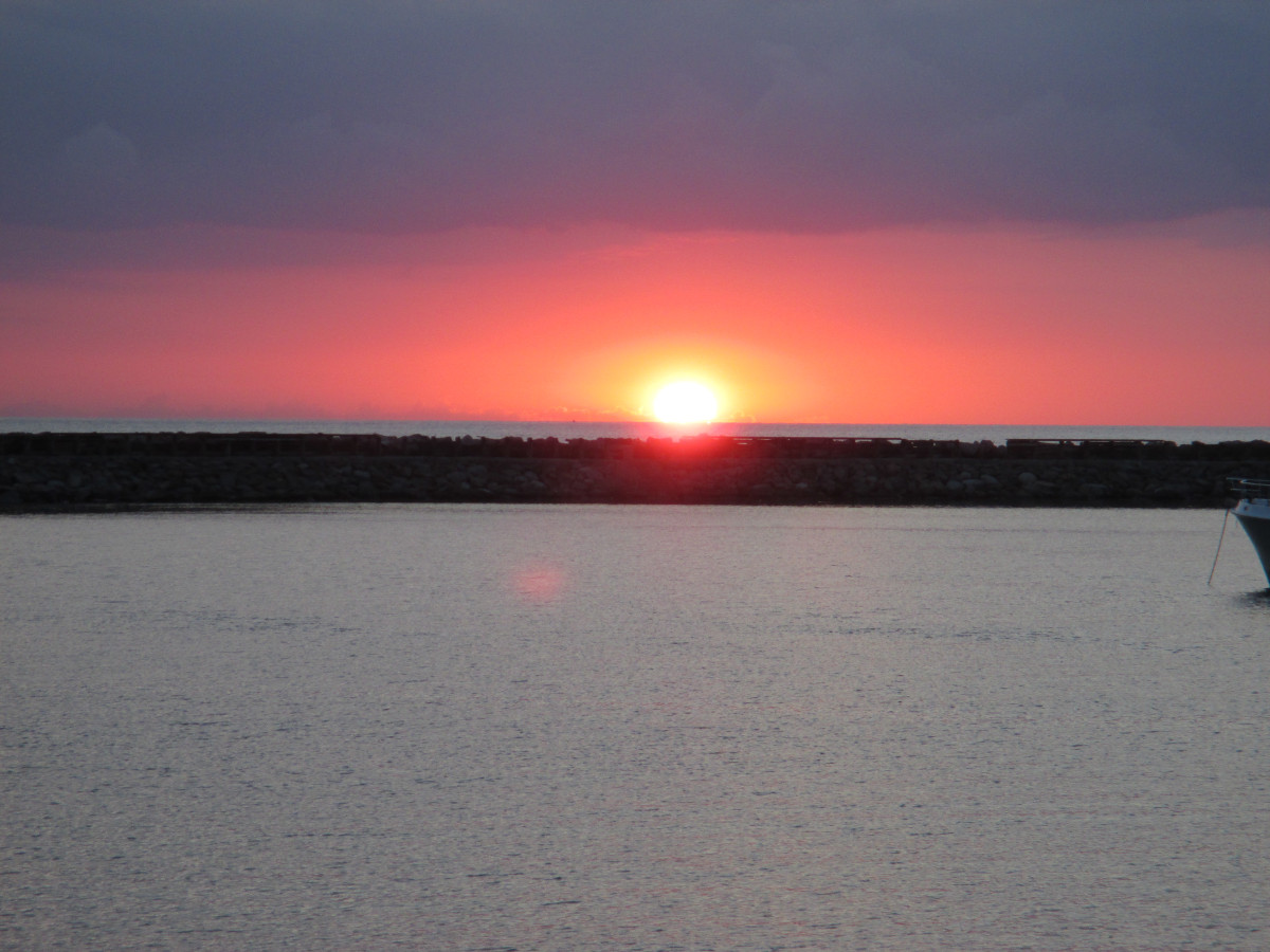 Anholt's berühmter Sonnenuntergang