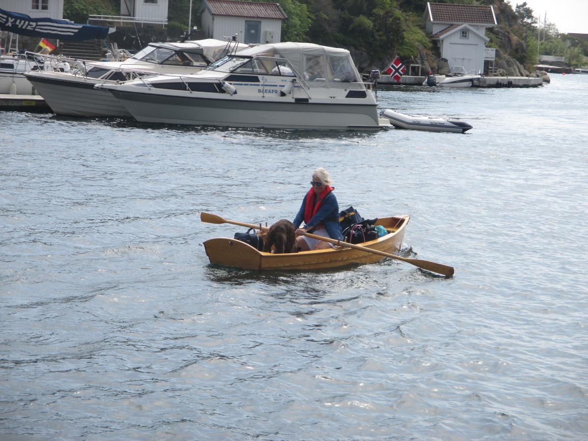 Das war - außer unserer Daisy natürlich - das erste und einzige Boot, welches hier gerudert wurde