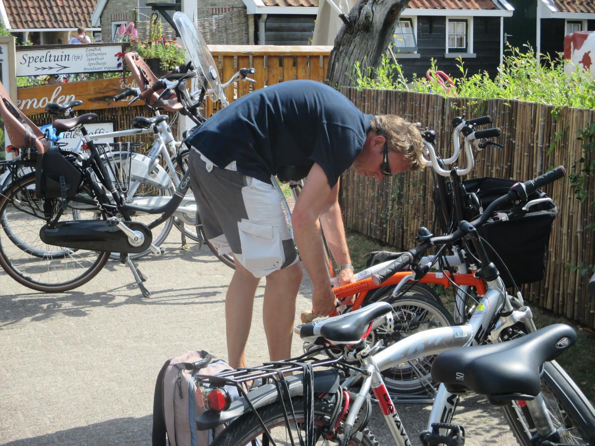 Fahrrad-Abschließprozedur