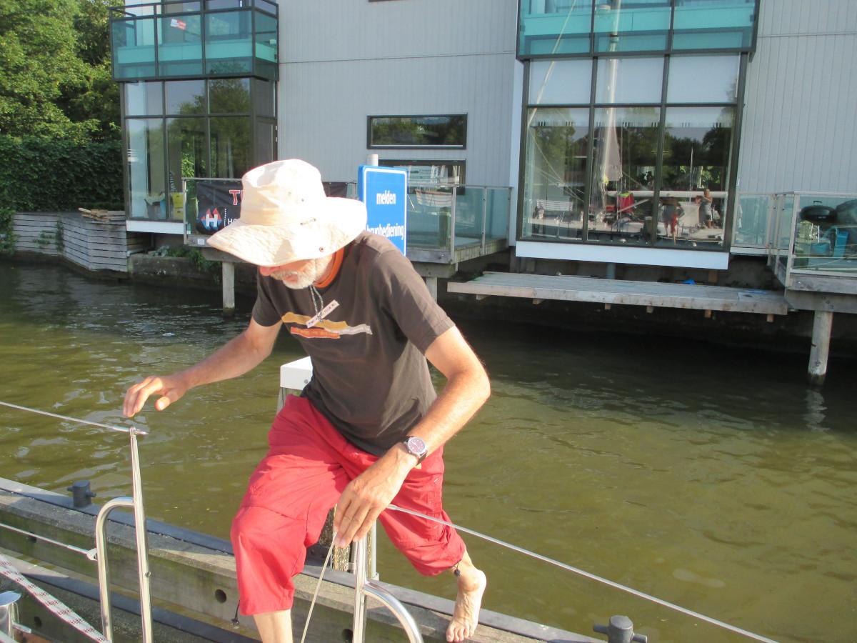 Quickstop & over on board: Knopföffnung für Brücke aktiviert!