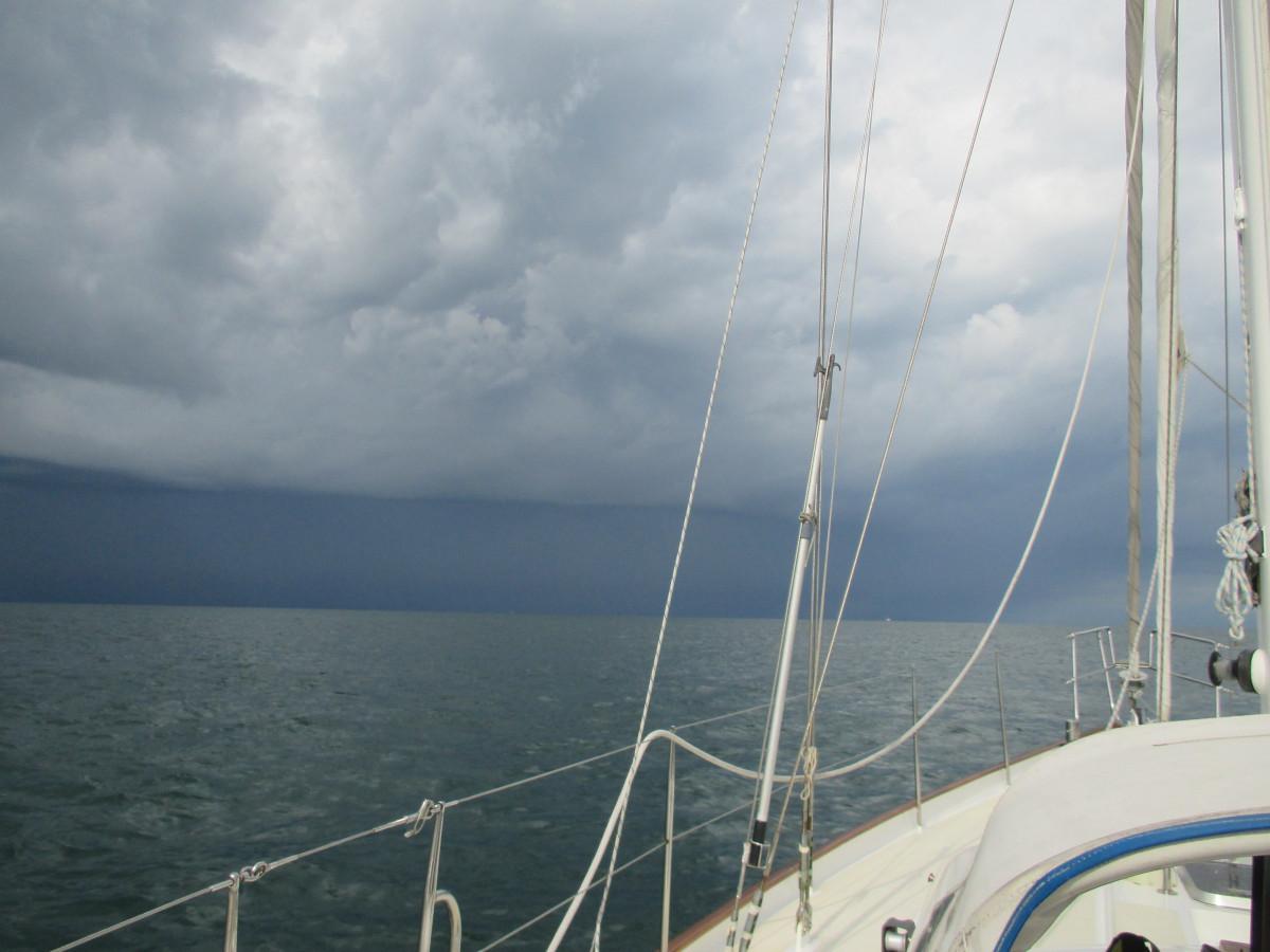 Und noch mal Gewitter im Seegatt von Terschelling