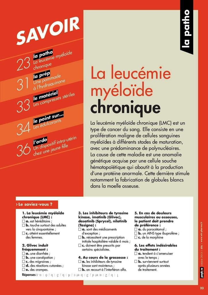 Dossier Leucemie Myeloide Chronique