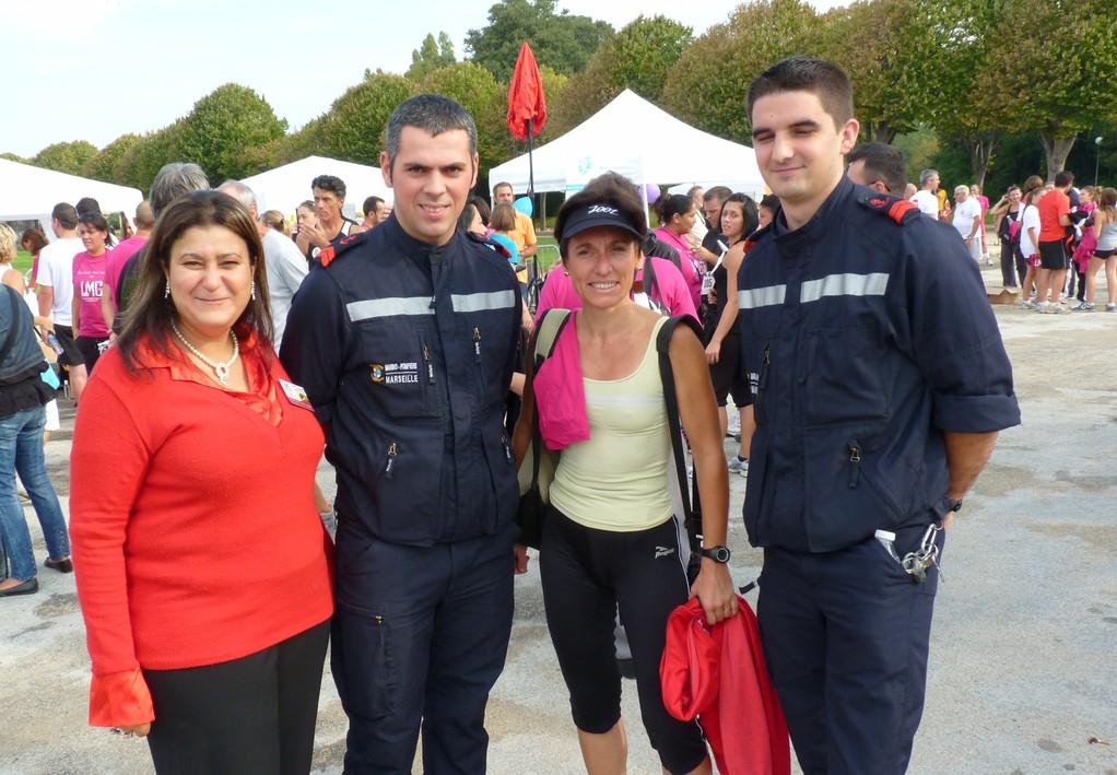 Les marins pompiers de Marseille avec LMC France