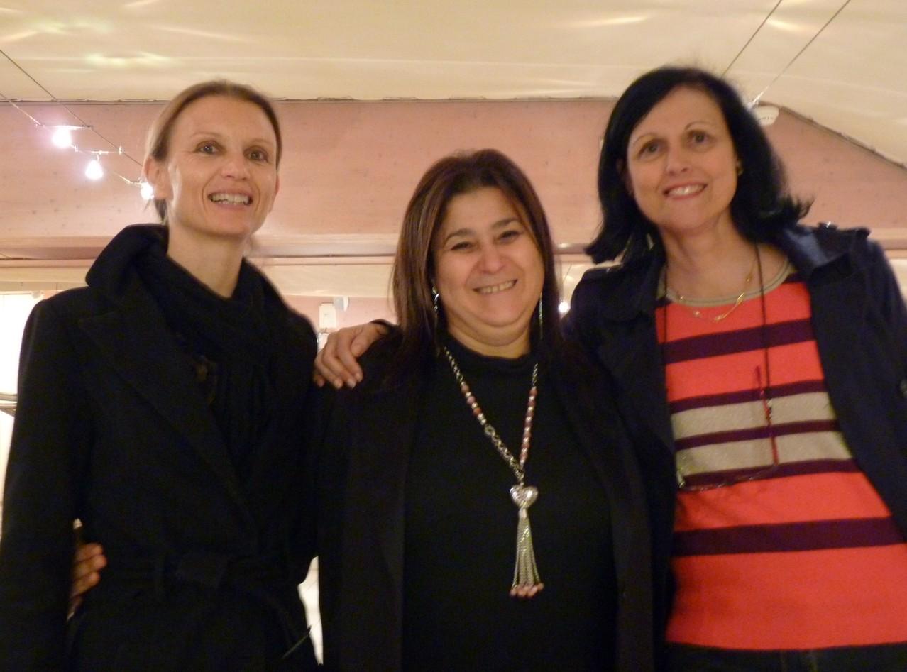 A Marseille - Dr Aude CHARBONNIER, Mina DABAN, Dr Marie-Joelle MOZZICONACCI : trois belles  énergies en une photo !