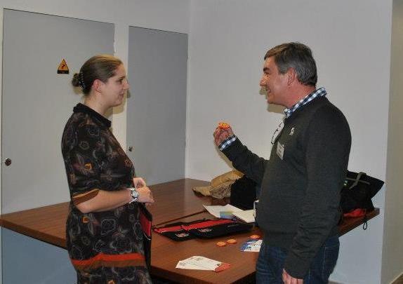 Adèle GUIFFARD  et son stand LMC France - Rouen