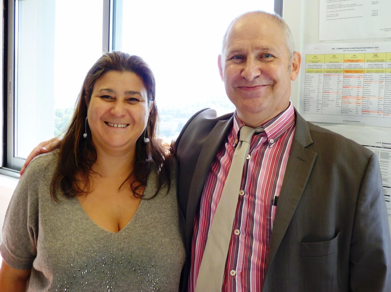 Mina Daban, Présidente de LMC France et le Docteur Patrick Auberger, Directeur du C3M