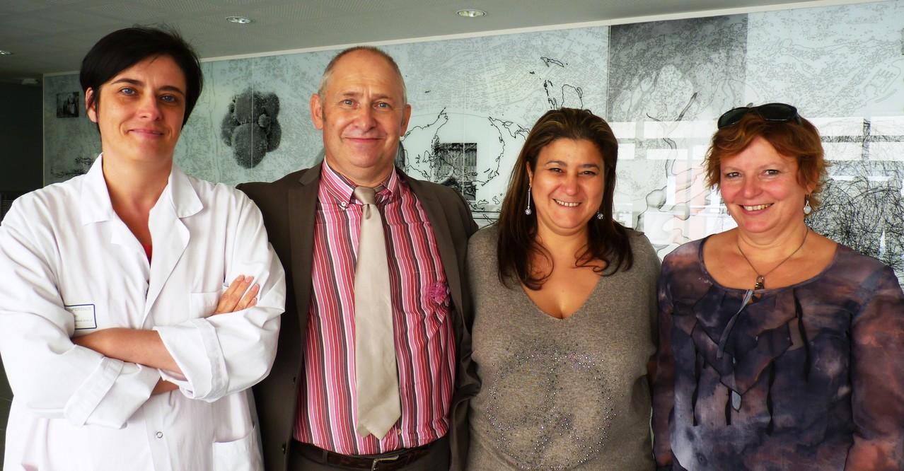 Doc Legros, Doc Auberger, Mina Daban, Christiane Waldmann (INSERM)