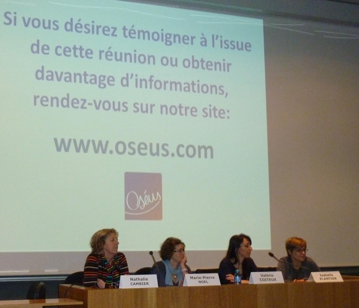 Les Dr Nathalie CAMBIER, Marie-Pierre Noel, Valérie COITEUX et Isabelle  PLANTIER - Journée Patients FiLMC Lille