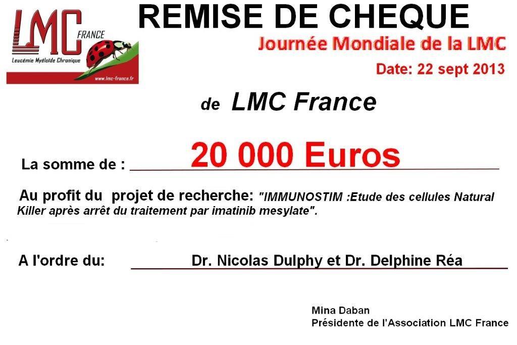 LMC France soutient la recherche contre la LMC
