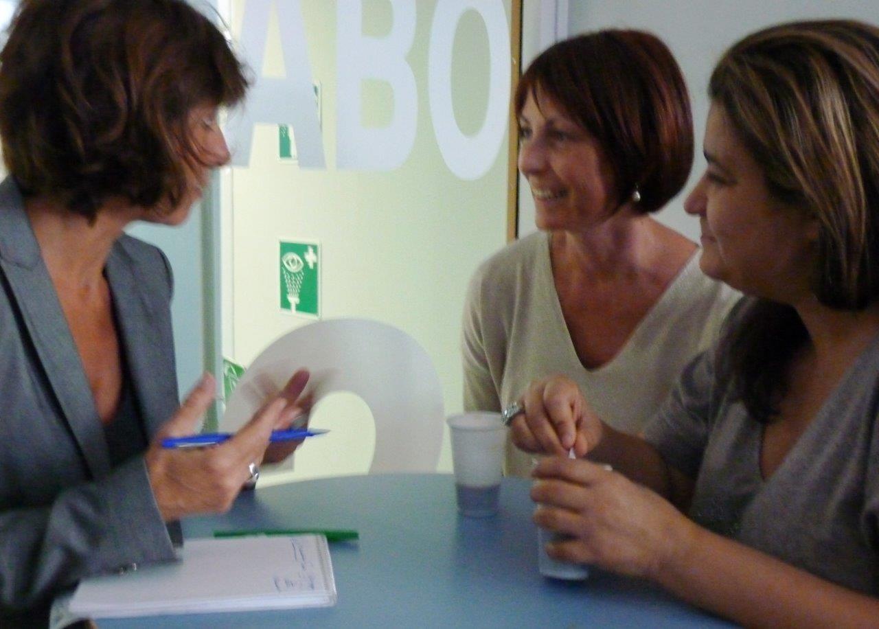 Nancy Cattan (journaliste Nice Matin), Catherine Mazza, Mina Daban