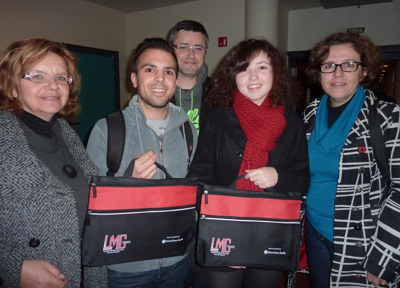 La mallette observance LMC France distribuée à Lille - Journée Patients FI LMC 2012