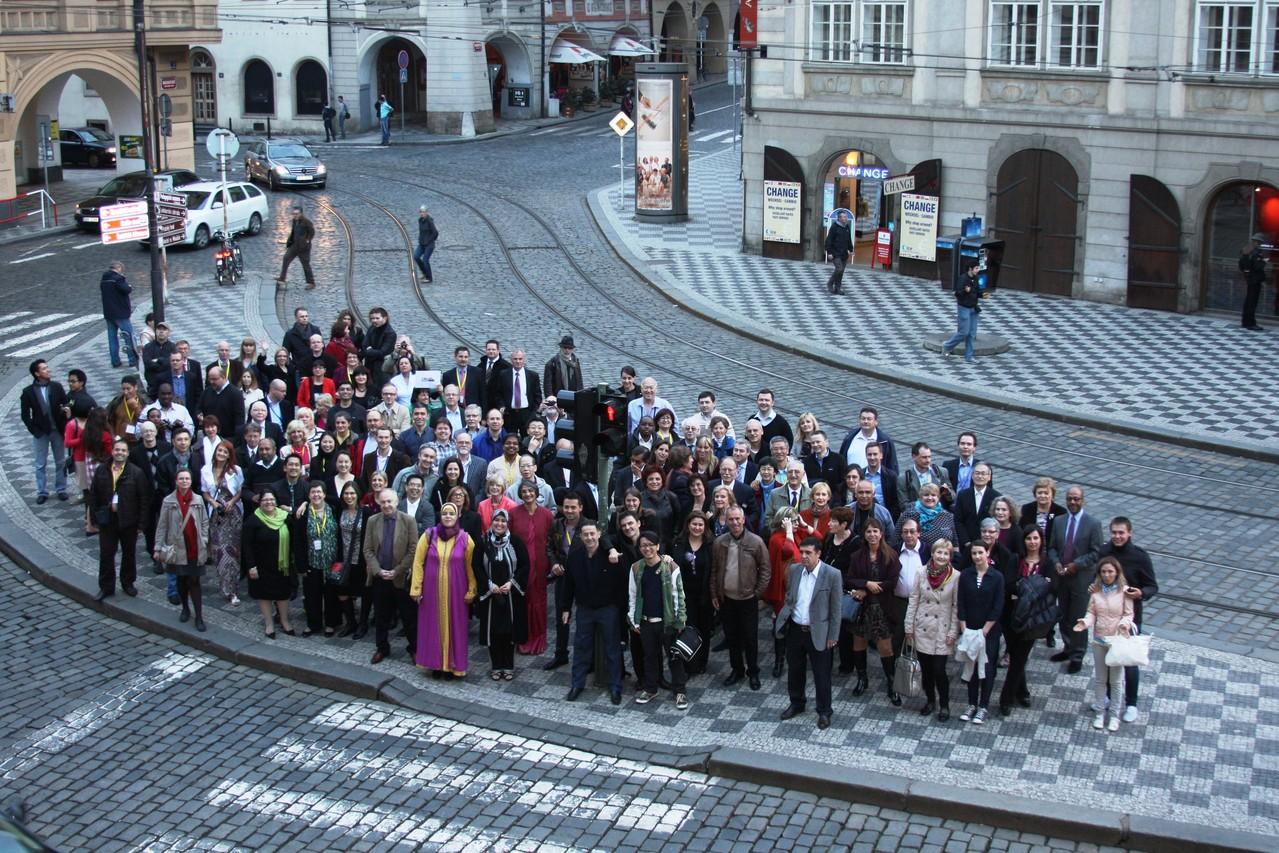 Les membres de CML Advocates Network dans les rues de Prague