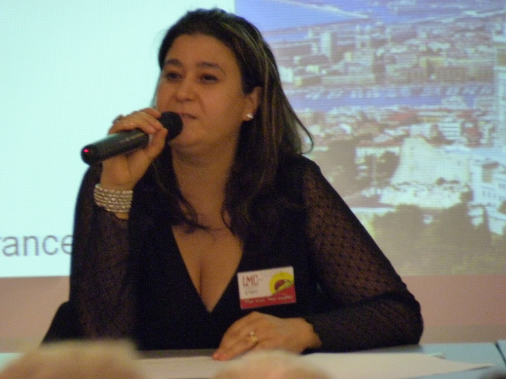 Marseille, Mina DABAN, Présidente LMC France