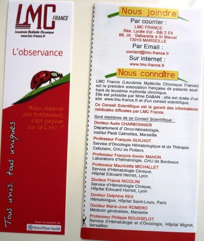 Le marque-page des liens utiles LMC (recto)