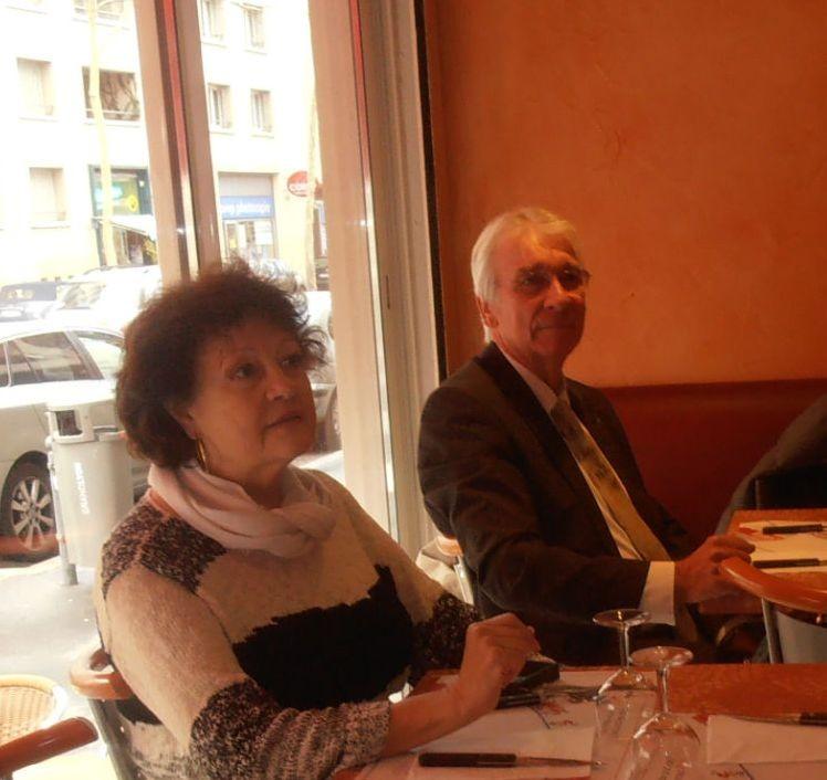 Repas LMC France à Lyon - Liliane et Serge