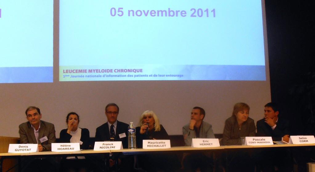 Lyon: Dr Denis GUYOTAT, Hélène HOAREAU, Dr Franck NICOLINI, Pr  Mauricette MICHALLET, Eric HERMET, Pascale CONY -MAKHOUL, Selim CORM