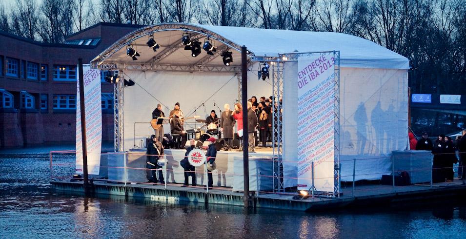 Auftakt im Fluss _ IBA_HAMBURG Opening Fotos © Barbara Frohne