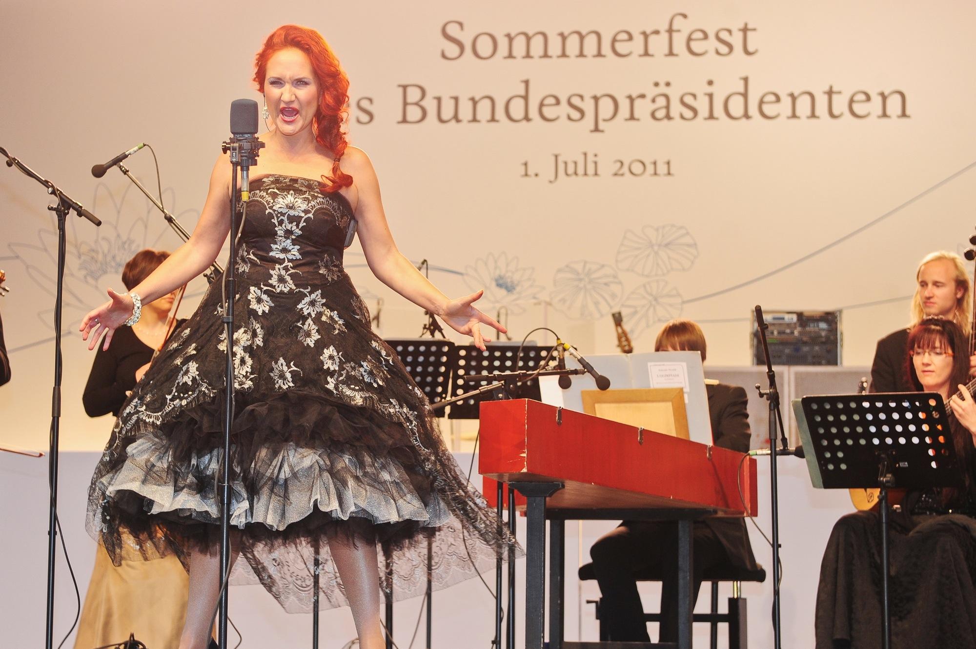 Sommerfest des Bundespräsidenten, Simone Kermes Fotos © CB.e Clausecker I Bingel AG