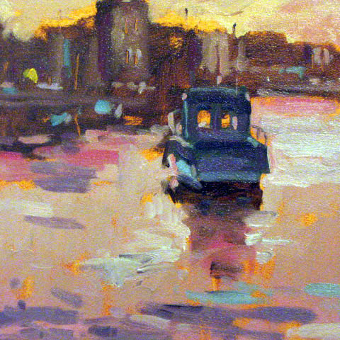 Evening on the Quay   Oil on panel