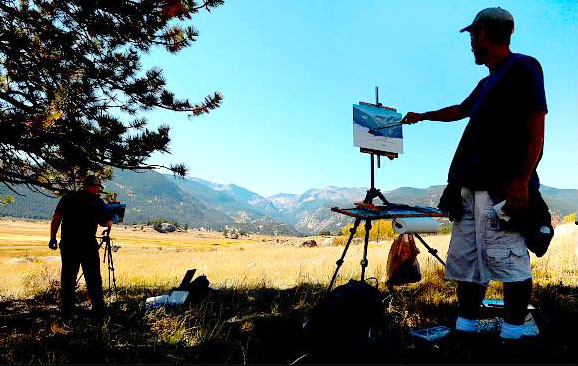 Painting with friend Dave Santillanes in Colorado