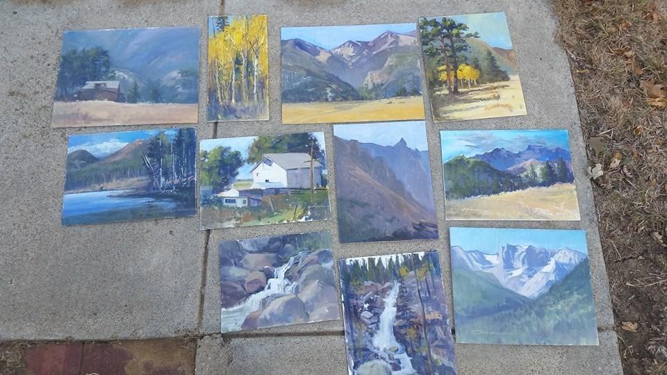Estes Park Painting trip bounty