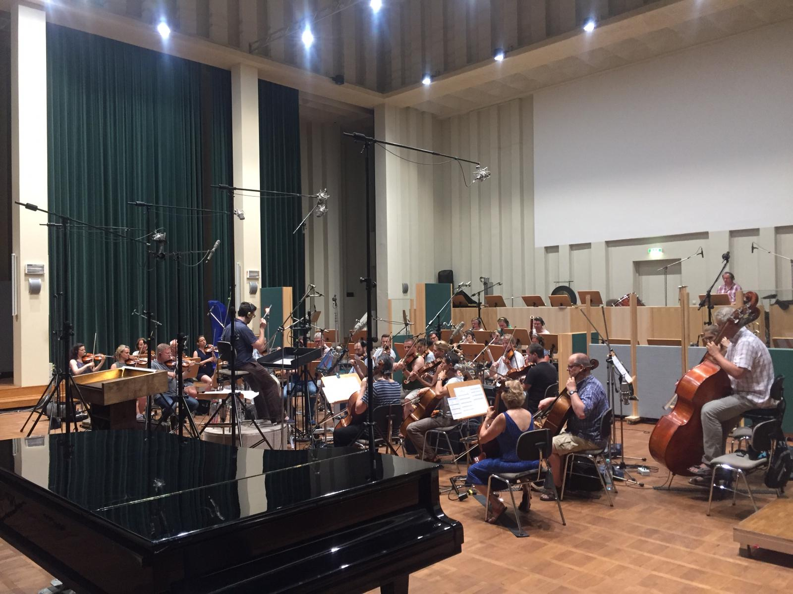 recording with Filmorchester Babelsberg