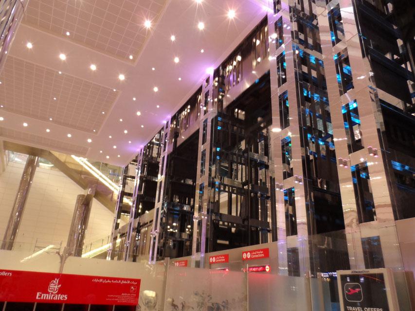 Ascensori al Terminal 3 di Dubai