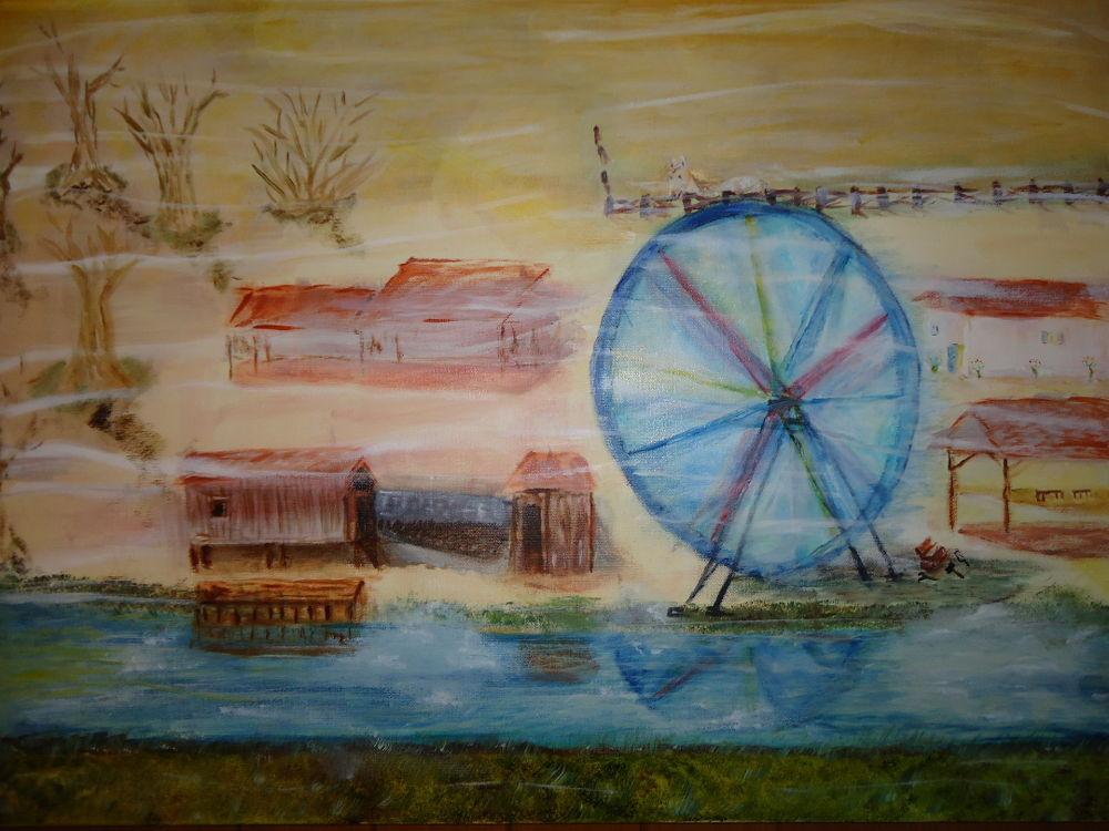 Abandon tableau huile et acrylique