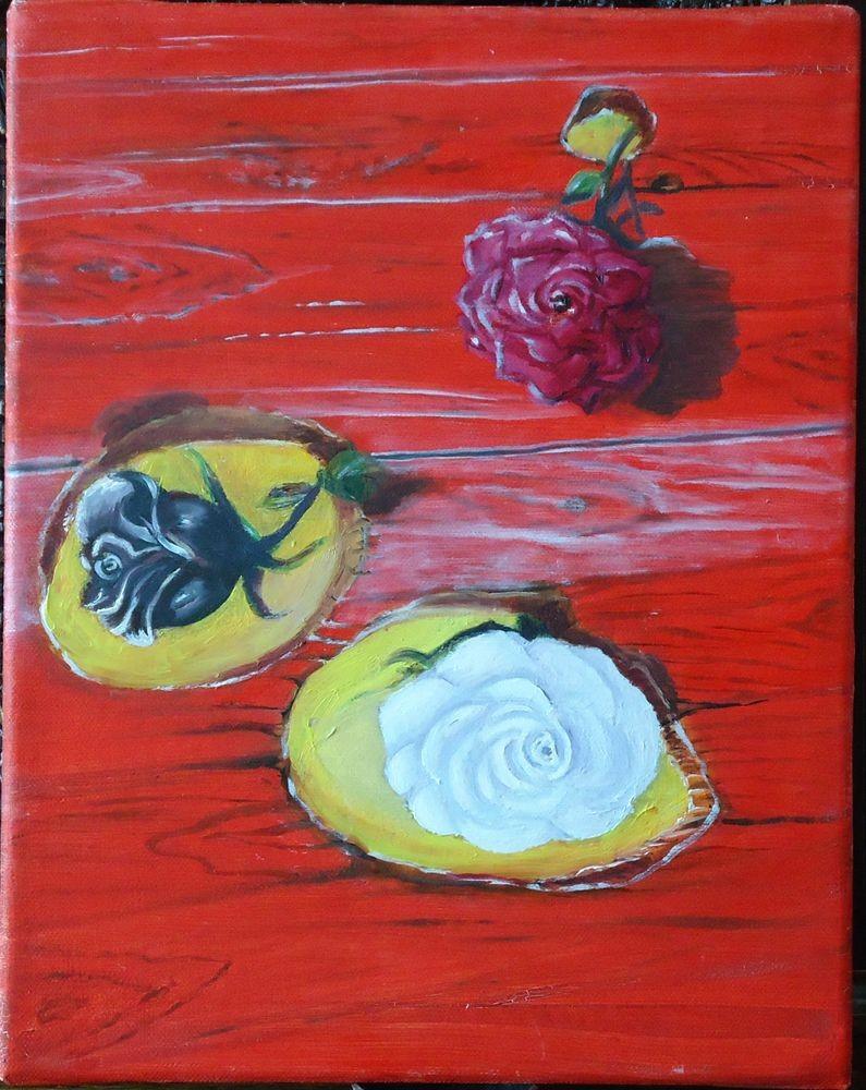 tableau les roses