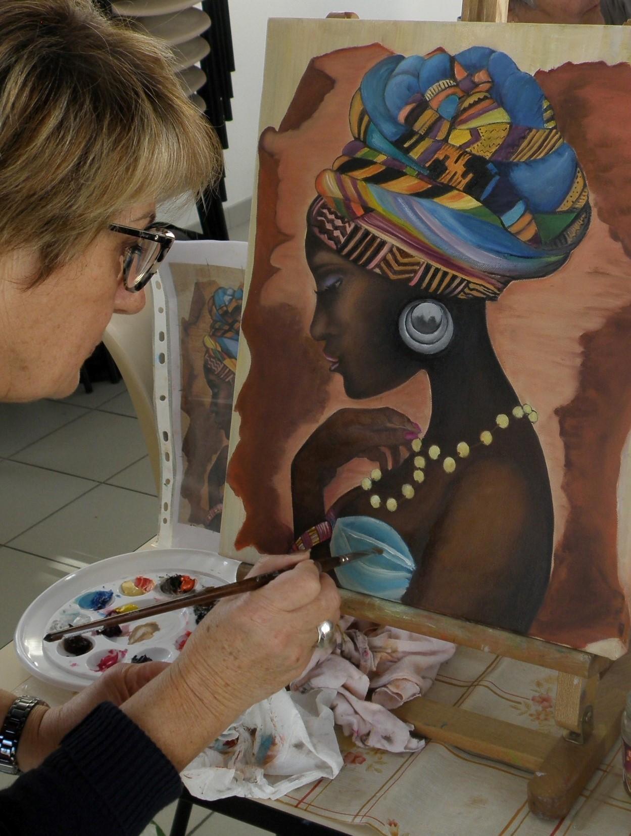 Danielle (qui n'est pas prolixe) enchaîne avec un portrait d'Africaine