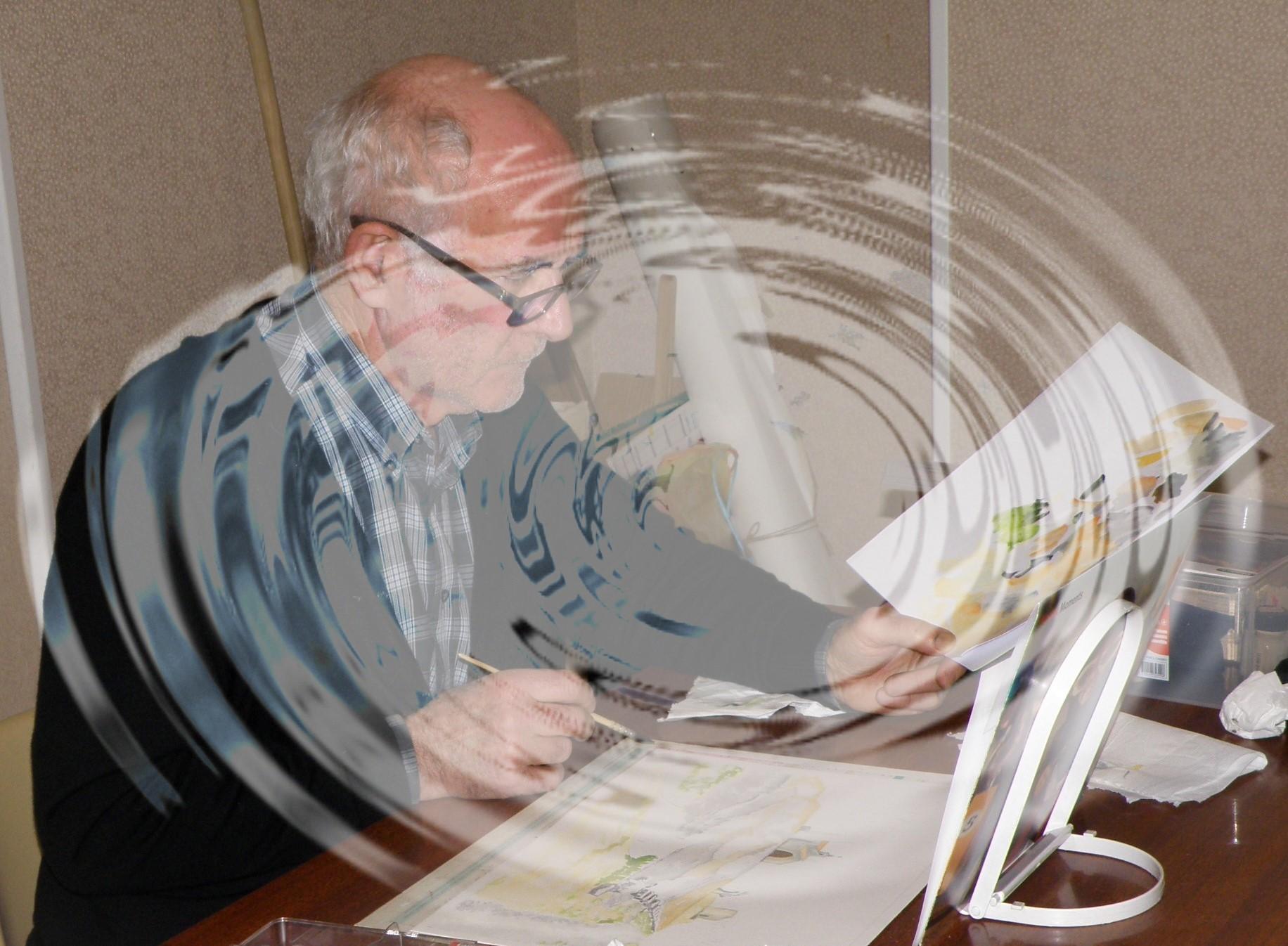 Gérard Absorbé dans le tourbillon de ses paysages