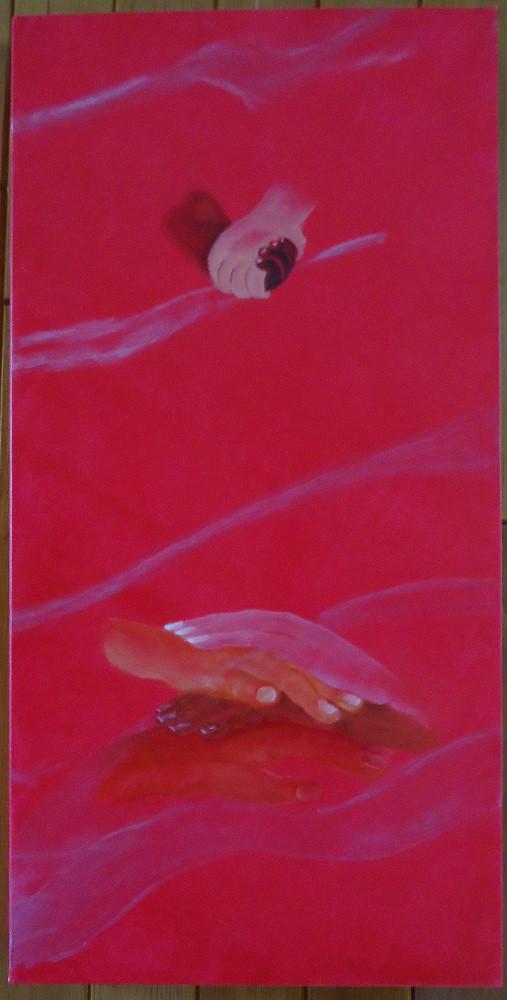 La  Fraternité (triptyque avec la Libeté et l'égalité)  tableau huile et acrylique