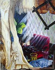atelier de peintre; le désorde est souvent une soucre d'inspiration pour un artiste