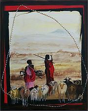 Gardienne de chèvres