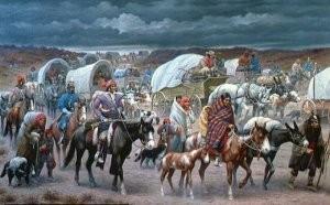 """Gemälde """"Trail of Tears""""  (Museum of Cherokee) und :"""