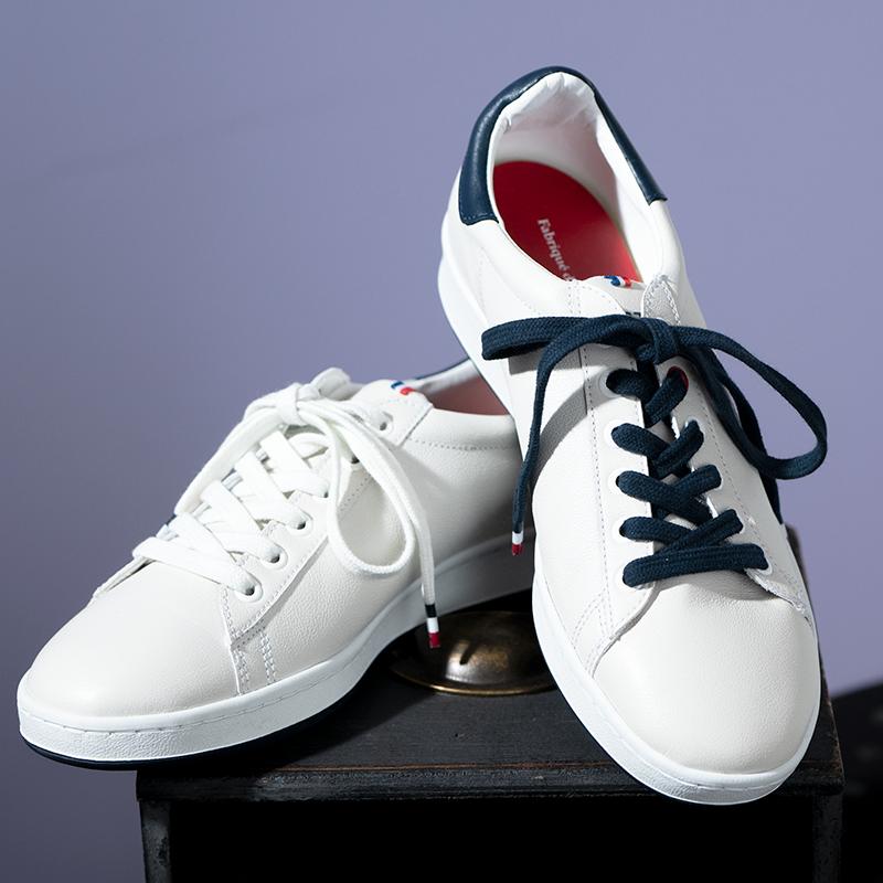 Sneaker 100% in Frankreich produziert, sogar das Leder stammt aus Frankreich, sehr bequem mir herausnehmbarer Sohle (CHF 249.-).-)