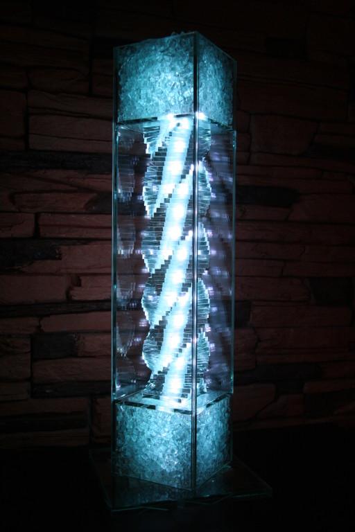 Design - Glaslampe mit Spirale