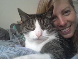 Jessika met haar kat Tom