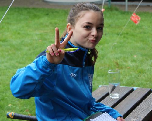 Siegerin bei den Schülerinnen Anna- Lena
