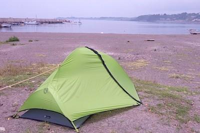 テントも設営したし
